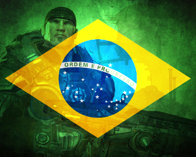 brazilian flag + marcus fenix