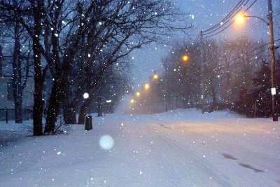 snow at king's bridge road